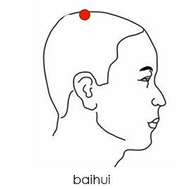 baihui and huiyin